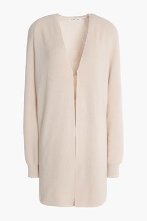 HELMUT LANG Ribbed cotton and cashmere-blend cardigan
