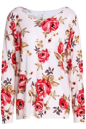 JOIE Floral-print cashmere sweater