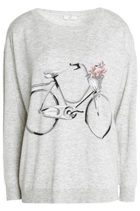 JOIE Mélange intarsia-knit top