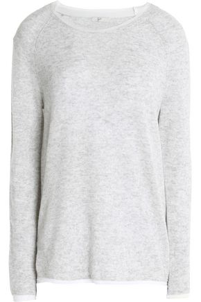 JOIE Two-tone mélange cashmere top