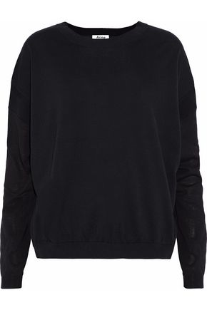 ACNE STUDIOS Two-tone paneled cotton sweater