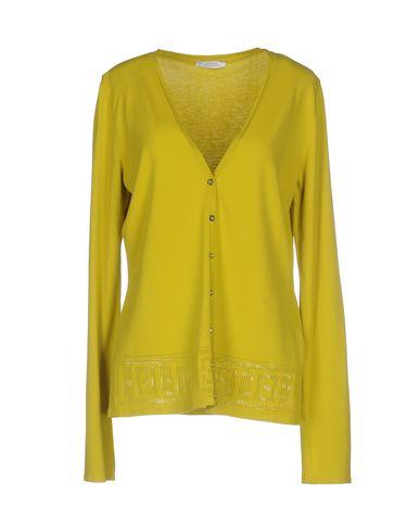 VERSACE COLLECTION Damen Strickjacke Hellgrün Größe 42 70% Viskose 30% Polyester