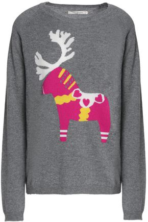 CHINTI AND PARKER Scandi Dalecarlian reindeer intarsia wool and cashmere-blend sweater