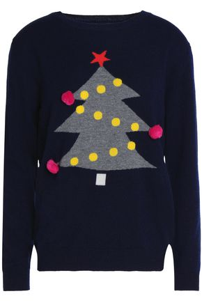 CHINTI AND PARKER Appliqué intarsia wool and cashmere-blend sweater