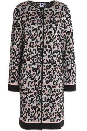 M MISSONI Leopard-print metallic crochet-knit cardigan