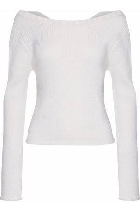 DEREK LAM 10 CROSBY Wrap-effect wool and cashmere-blend sweater