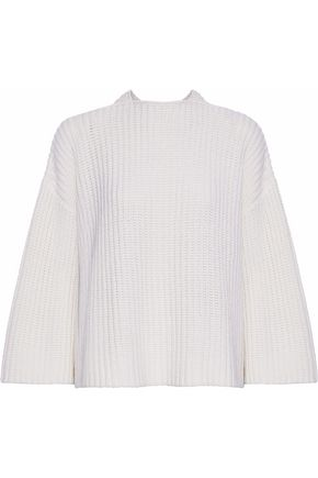 DEREK LAM 10 CROSBY Wrap-effect layered wool and cashmere-blend sweater