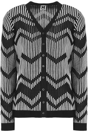 M MISSONI Pointelle-trimmed knitted cardigan