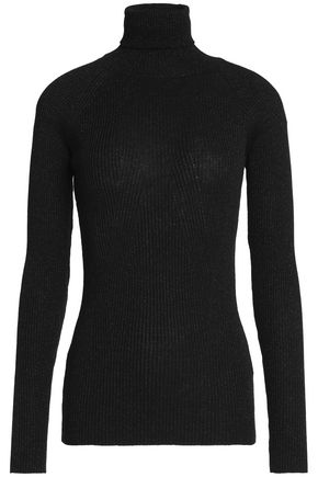MAISON KITSUNÉ Ribbed wool-blend turtleneck