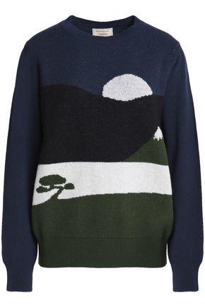 MAISON KITSUNÉ Printed wool sweater