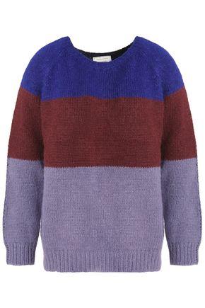 MAISON KITSUNÉ Color-block alpaca-blend sweater