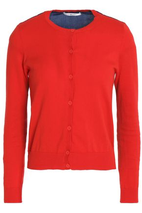 CARVEN Two-tone cotton cardigan