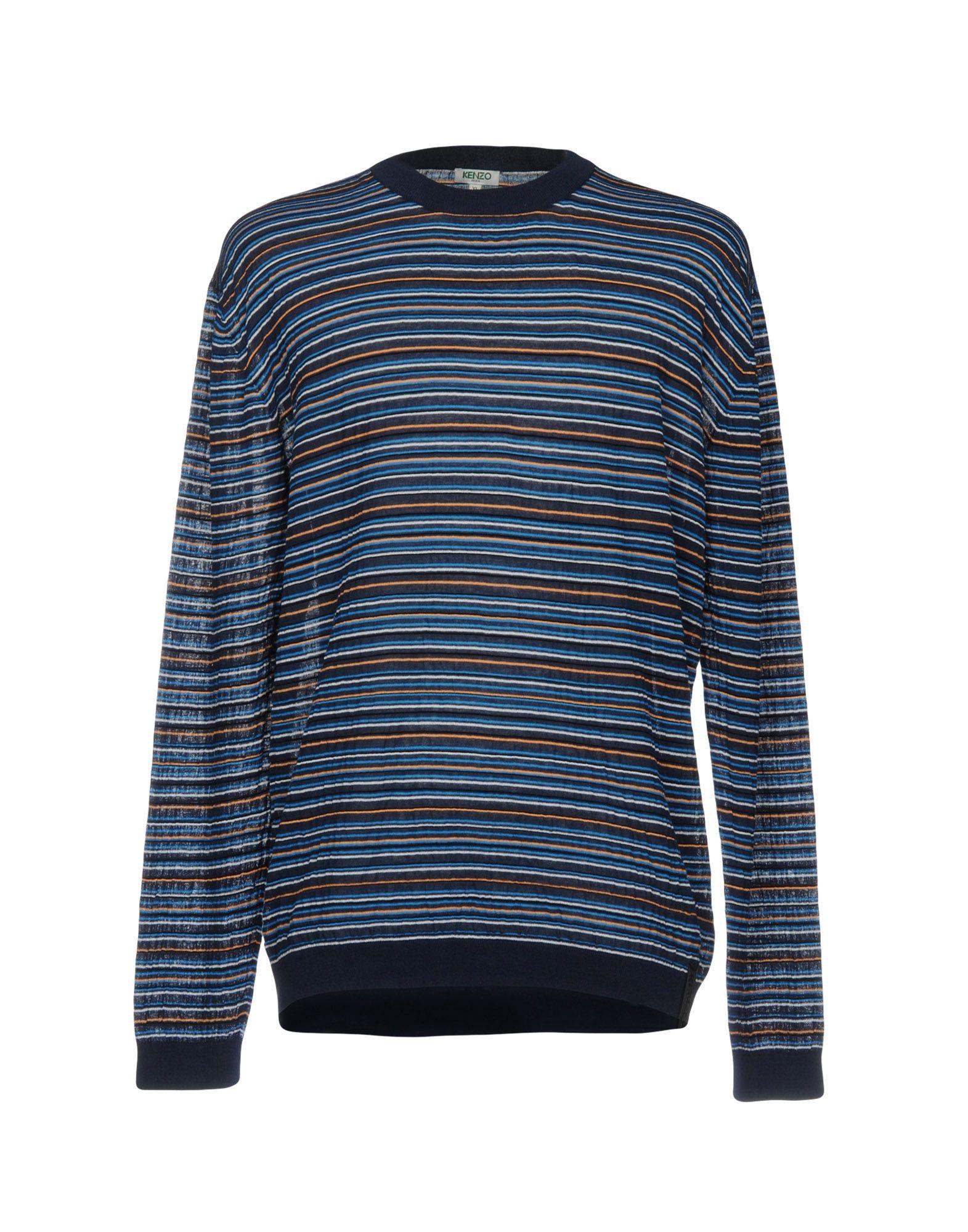 KENZO Свитер мужской свитер в полоску 52