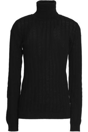 MAISON KITSUNÉ Cotton and cashmere-blend turtleneck sweater