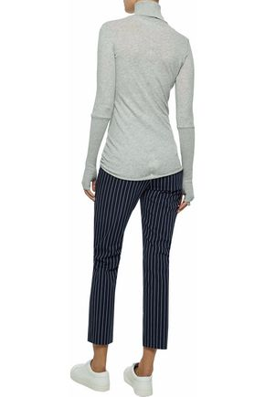 ... ENZA COSTA Cotton and cashmere-blend turtleneck sweater