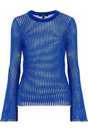 DEREK LAM Open-knit cotton-blend sweater