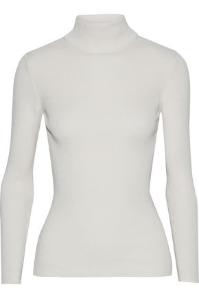 IRIS & INK Cotton-blend turtleneck sweater