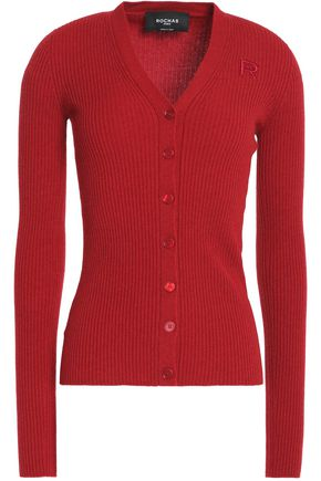 ROCHAS Ribbed-knit virgin wool cardigan