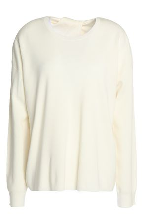 THEORY Twylina split-back merino wool sweater