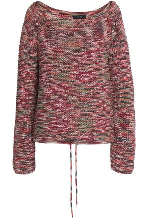 THEORY Marled cotton-blend sweater
