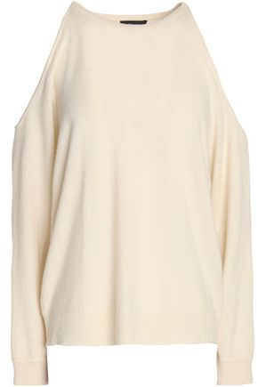 THEORY Cold-shoulder cashmere sweater