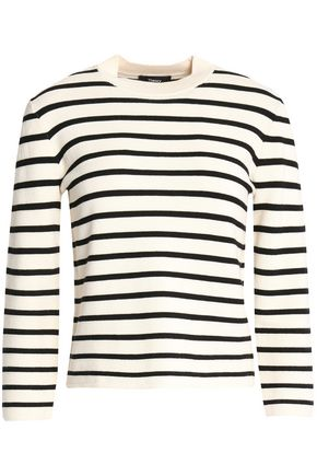 THEORY Striped knitted top