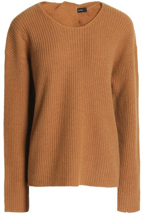 THEORY Split-back ribbed cashmere sweater