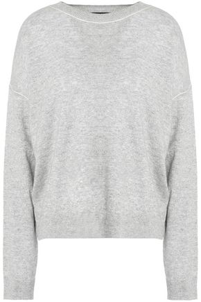 THEORY Cashmere and linen-blend sweater