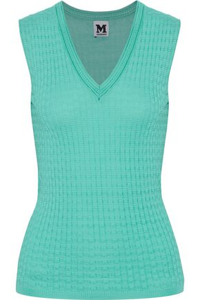 M MISSONI Ribbed-knit wool-blend top