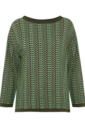 M MISSONI Jacquard-knit cotton-blend top