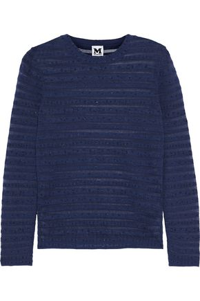 M MISSONI Metallic striped knitted sweater