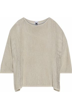 M MISSONI Draped metallic open-knit top