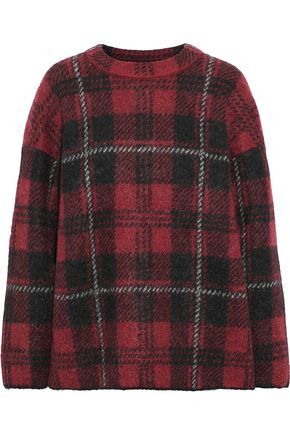 M MISSONI Checked mohair-blend sweater