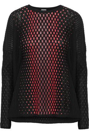 M MISSONI Dégradé crochet and jacquard-knit top