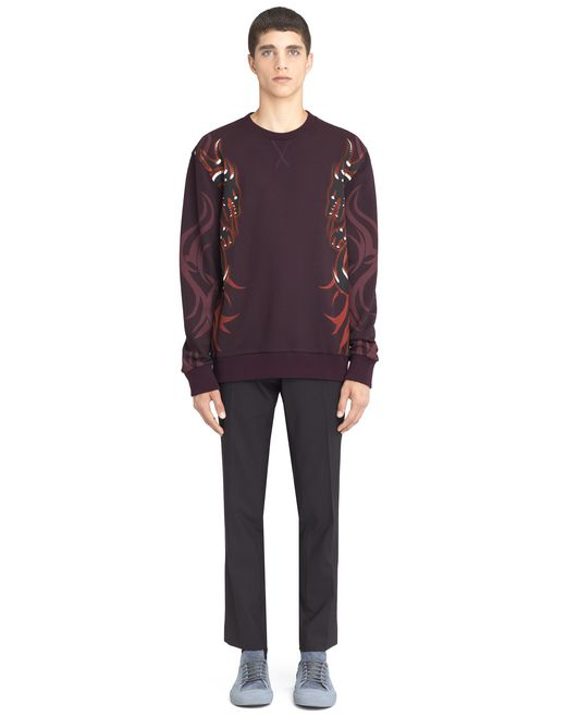 "lanvin ""dragon tribal"" sweatshirt men"