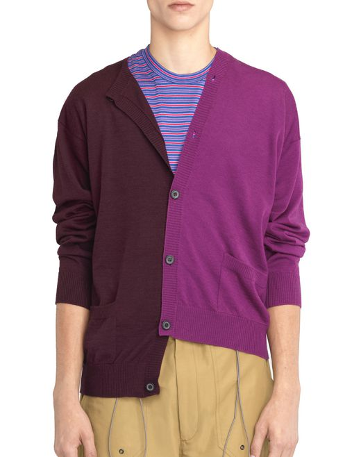 PLUM AND VIOLET DOUBLE-BUTTONED CARDIGAN - Lanvin