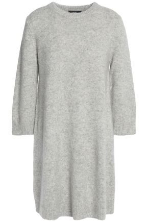 THEORY Mélange cashmere and silk-blend mini dress