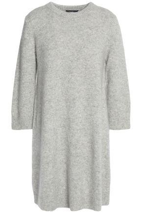 THEORY Mélange cashmere and silk-blend mini dress