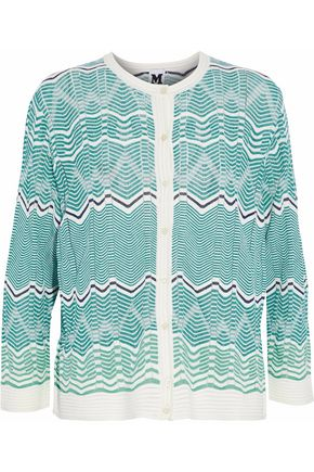 M MISSONI Cotton-blend crochet-knit cardigan