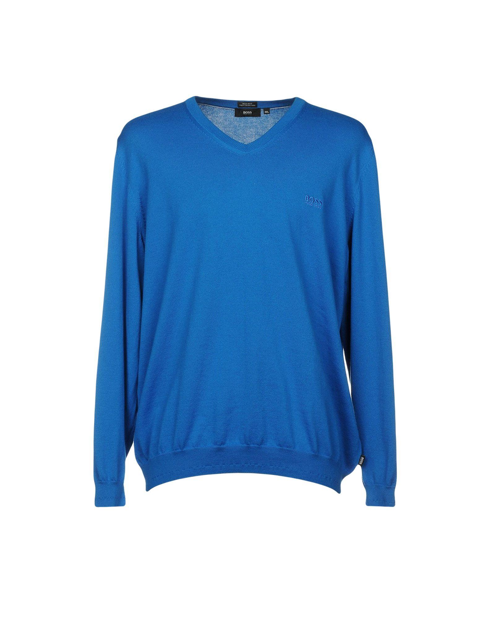 BOSS BLACK Herren Pullover Farbe Azurblau Größe 8