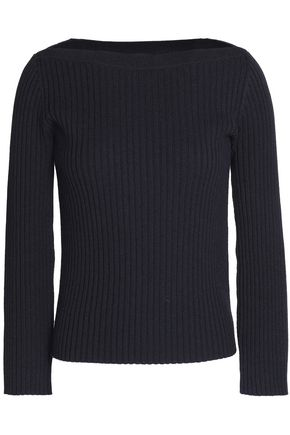 THEORY Ribbed merino wool and cotton-blend sweater