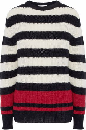 IRO Striped ribbed-knit sweater