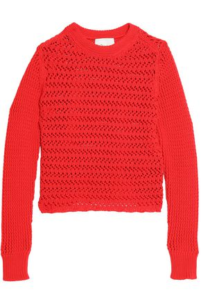 3.1 PHILLIP LIM Crochet-knit cotton-blend sweater