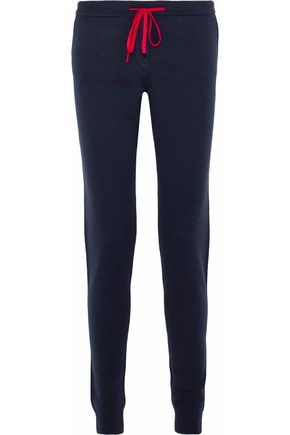 CHINTI AND PARKER Marled wool and cashmere-blend track pants