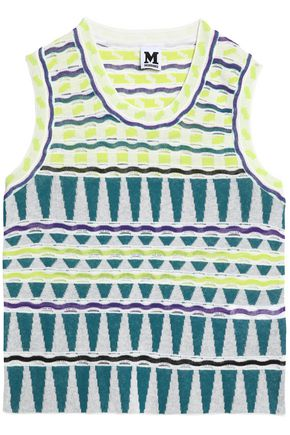 M MISSONI Multi-coloured knitted top