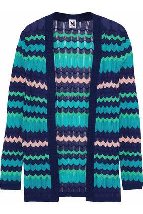 M MISSONI Metallic-trimmed crochet-knit cardigan