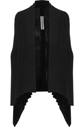 RICK OWENS Asymmetric cotton cardigan
