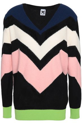 M MISSONI Color-block knitted sweater