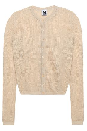 M MISSONI Metallic-knit cardigan