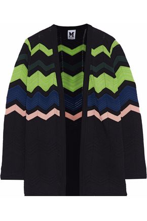M MISSONI Geometric design pointelle-knit cardigan